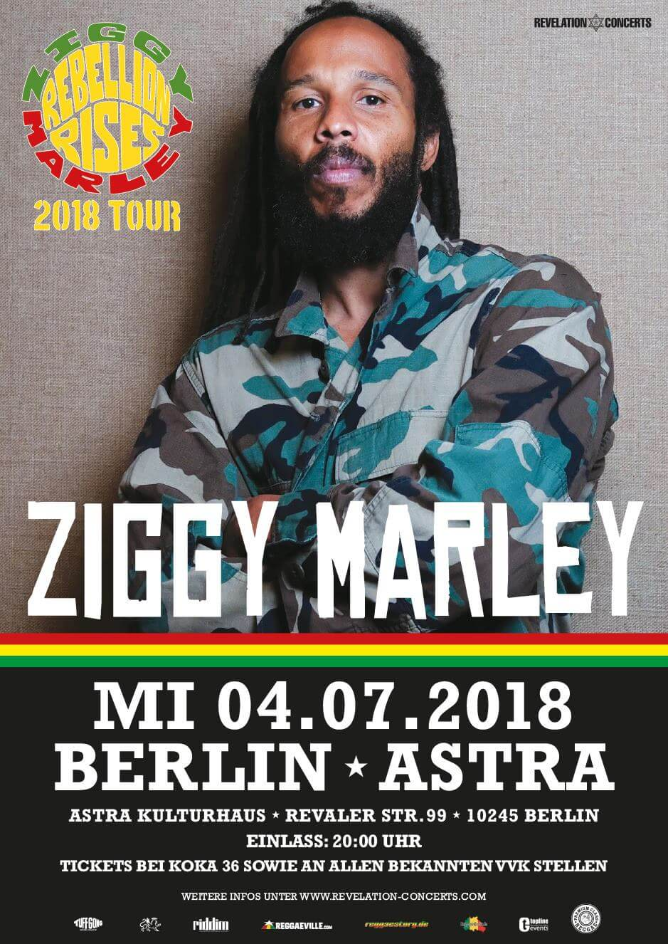 Ziggy Marley – Tourstop in Berlin
