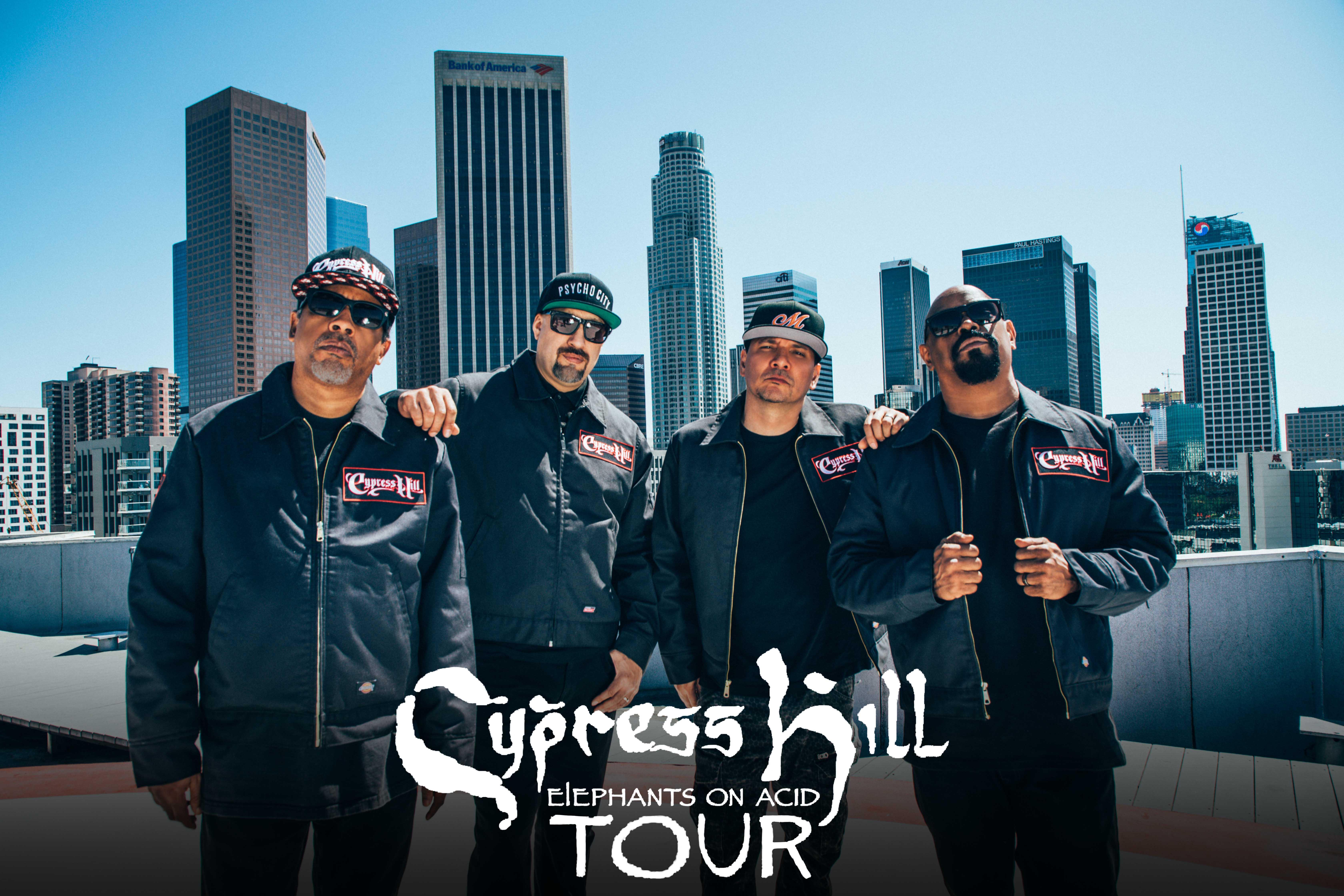 Cypress Hill gehen auf Elephants On Acid Tour