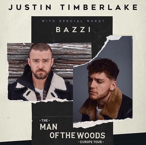 Justin Timberlake zusammen mit Bazzi auf Tour durch Europa